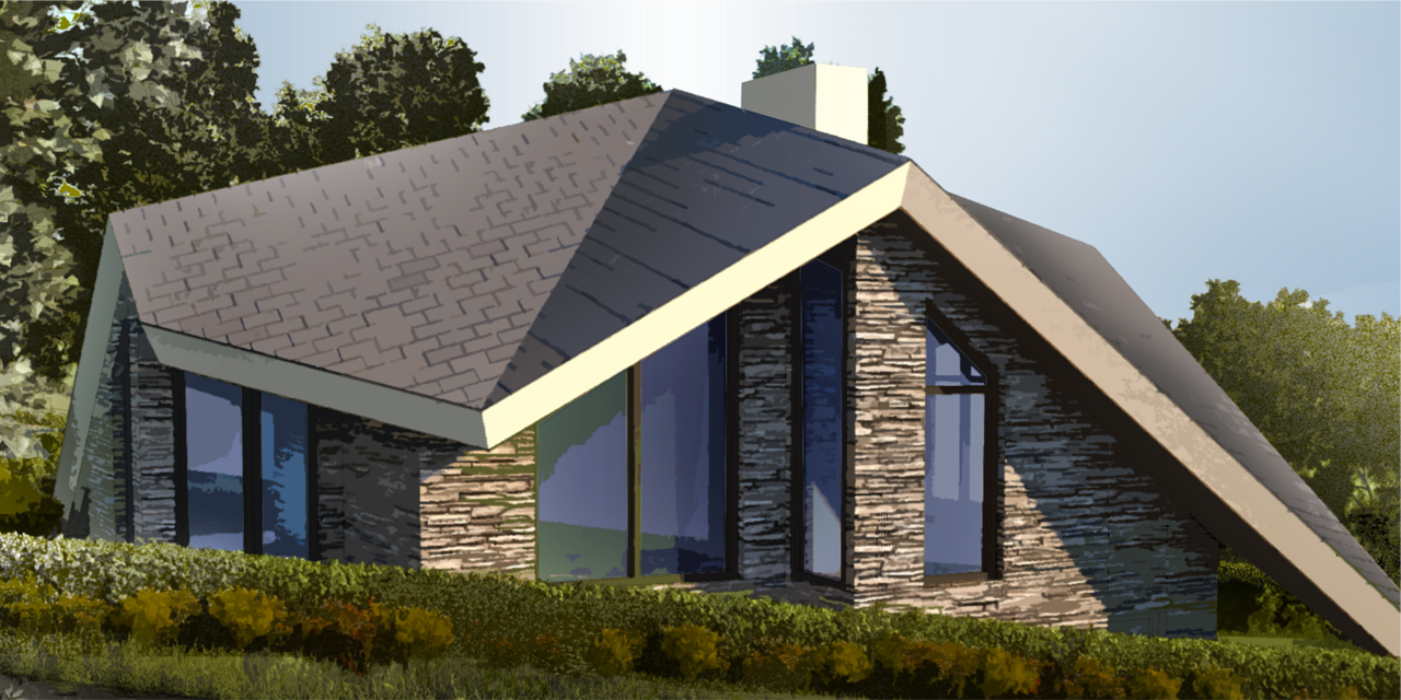 SLOPE ROOF HOUSE